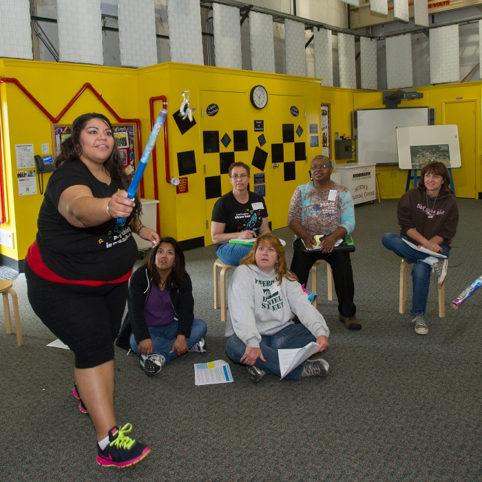 girl scouts of suffolk county staff members learn stem